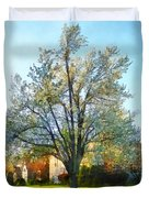 Suburbs - Late Afternoon In Spring Duvet Cover