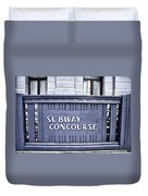 Subway Concourse At City Hall Duvet Cover