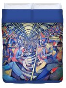 Subway Nyc, 1994 Oil On Canvas Duvet Cover