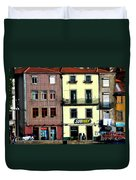 Subway - Porto Duvet Cover by Mary Machare