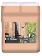 Subway Station In Brooklyn Duvet Cover
