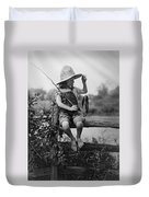 Successful Day Of Fishing  1919 Duvet Cover by Daniel Hagerman