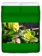 Succulent Bloom Duvet Cover