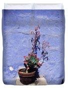 Succulent Blue Duvet Cover