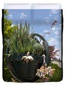 Succulents In A Planter Duvet Cover