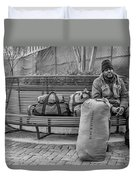 Such A Long Journey Bw Duvet Cover