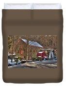 Sudbury Wintery Grist Mill Duvet Cover