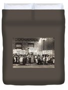 Suffrage Protest, 1916 Duvet Cover