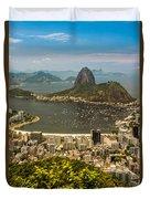 Sugar Loaf Mountain In Rio De Janeiro Duvet Cover