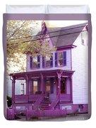 Sugar Plum Purple Victorian Home Duvet Cover