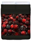 Sugared Cranberries Duvet Cover