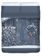 Sugarhouse At Christmas Duvet Cover