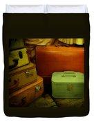 Suitcases In The Attic Duvet Cover