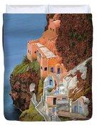 sul mare Greco Duvet Cover by Guido Borelli