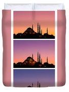 Suleymaniye Sundown Triptych 03 Duvet Cover