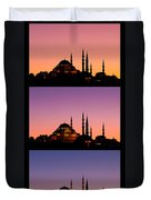 Suleymaniye Sundown Triptych 04 Duvet Cover by Rick Piper Photography