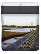 Sullivan's Island To Old Village Duvet Cover