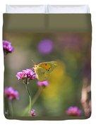Sulphur Butterfly On Verbena Flower Duvet Cover