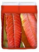Sumac Leaves Duvet Cover