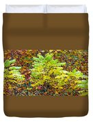 Sumac Leaves In The Fall Duvet Cover