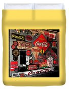 Sumi-e Styled Coca Cola Signs Duvet Cover