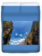 Sumidero Canyon Sky Duvet Cover