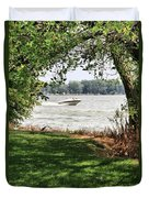 Summer At The Lake Duvet Cover