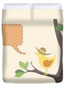 Summer Bird Duvet Cover