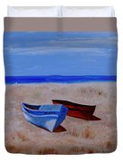 Summer Boats Duvet Cover