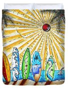 Summer Break By Madart Duvet Cover by Megan Duncanson