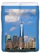 Summer Cityscape Nyc  Duvet Cover