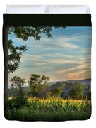 Summer Corn Square Duvet Cover by Bill Wakeley