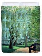 Summer Day Boston Public Garden Duvet Cover by George Luks