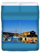 Summer Evening At The Harbour Duvet Cover