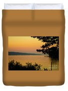 Summer Evening On Cayuga Lake Duvet Cover