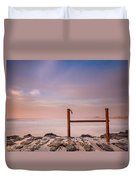 Summer Evening On North Jetty Duvet Cover