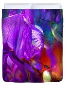 Summer Hummers Duvet Cover