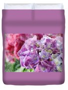 Summer Hydrangeas With Painted Effect Duvet Cover