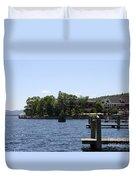 Summer Impression Lake Winnipesaukee Duvet Cover