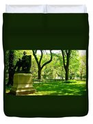 Summer In Central Park Manhattan Duvet Cover