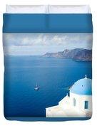 Summer In Santorini - Greece Duvet Cover