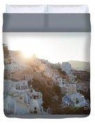 Summer In Santorini Duvet Cover