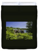 Summer In South Bristol On The Coast Of Maine Duvet Cover