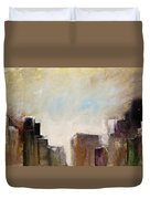 Summer In The City Abstract Geometric Original Painting On Canvas Duvet Cover