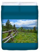 Summer In The Mountains Duvet Cover