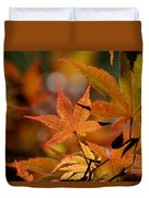 Summer Japanese Maple - 3 Duvet Cover