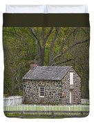 Summer Kitchen In Spring - Colonial Stone Duvet Cover