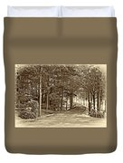 Summer Lane Sepia Duvet Cover