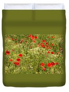 Summer Meadow Background Duvet Cover