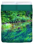 Summer Monet Reflections Duvet Cover